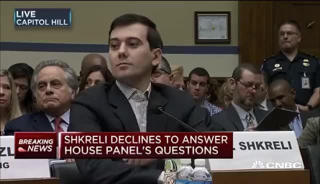Watch and share Martin Shkreli Testifies Before Congress: Full Testimony | CNBC GIFs on Gfycat