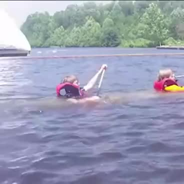 Watch Kids sinking in canoe | ORIGINAL GIF on Gfycat. Discover more related GIFs on Gfycat