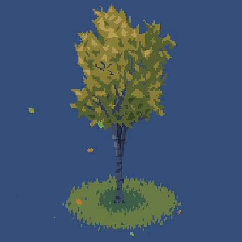 Watch and share Birch Tree - Unity Particle System GIFs by jackburtdev on Gfycat