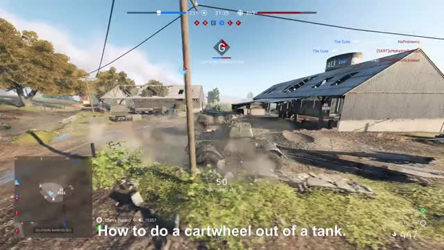 Watch How not to exit a tank! GIF by Xbox DVR (@xboxdvr) on Gfycat. Discover more BattlefieldV, Cherry Poppnz, xbox, xbox dvr, xbox one GIFs on Gfycat