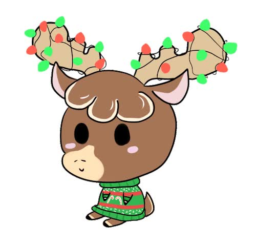Watch and share Cute Reindeer animated stickers on Gfycat