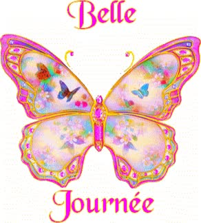 Watch and share Belle Journée Papillon Gif animated stickers on Gfycat