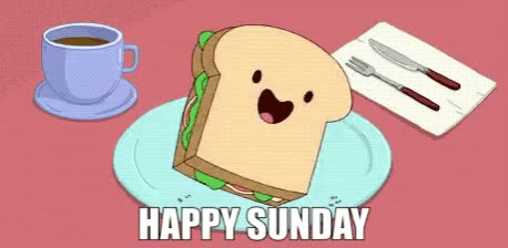 Watch this sunday GIF by GIF Queen (@ioanna) on Gfycat. Discover more amazing, awesome, best, breakfast, cartoon, cute, dance, dancing, great, happy, hungry, netowork, nice, sandwich, sunday, toast, weekend, yay, yeah GIFs on Gfycat