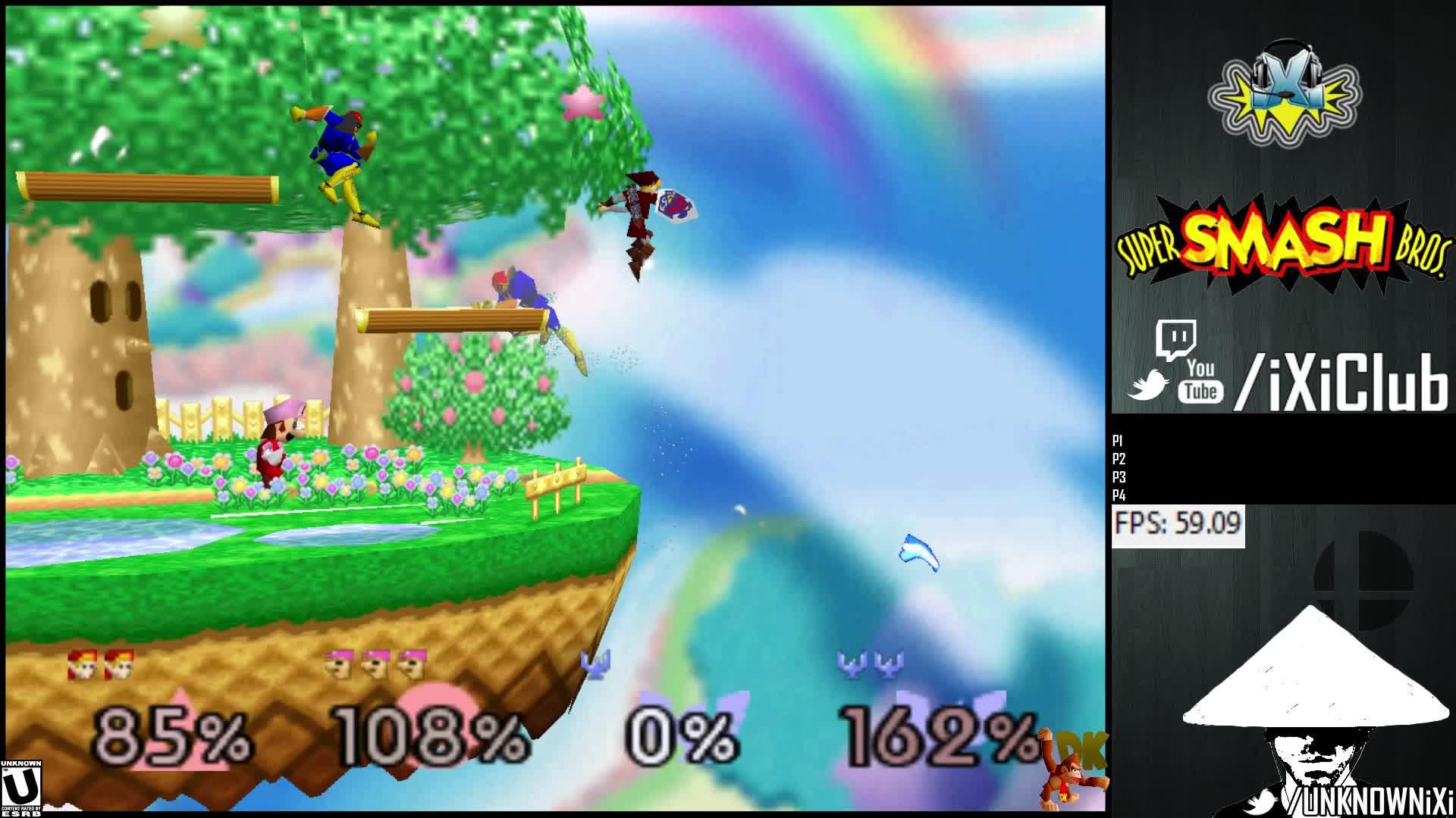 smashgifs, TEAMS Foolery with Link Bombs, Falcons, Luigi GIFs