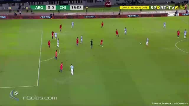 Watch (www.nGolos.com) Argentina 1-0 Chile - Messi (Penalty) 16' GIF on Gfycat. Discover more related GIFs on Gfycat