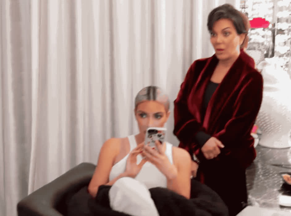 frozen, god, i'm, in, jenner, kardashian, keeping, kim, kris, my, no, oh, omg, scared, shock, the, unbelievable, up, way, with, KUWTK - OMG GIFs