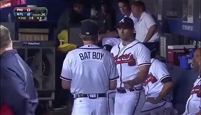 Watch Atlanta Braves Scared Of Bat GIF on Gfycat. Discover more atlanta braves, bat, bats, mlb GIFs on Gfycat
