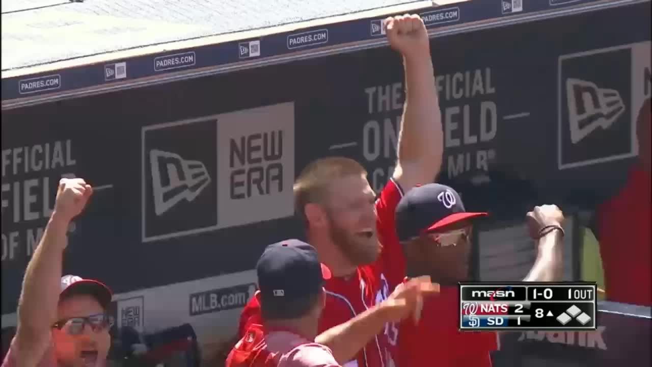 baseball, excited, nationals, washington nationals, stephen strasburg excited fist GIFs