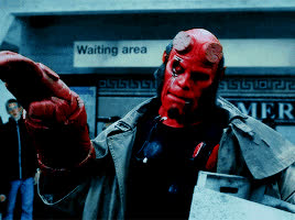annoyed, hellboy, hellboy movie, Hellboy Come On Already Annoyed GIFs