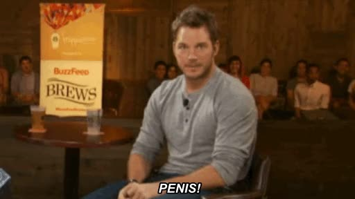 Watch and share Chris Pratt GIFs and Penis GIFs by Reactions on Gfycat