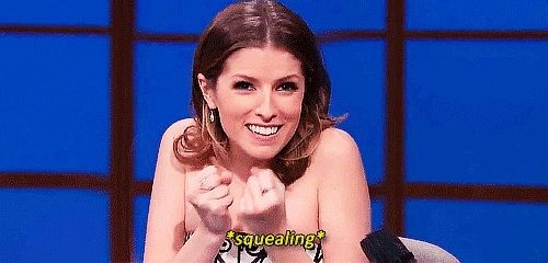 Anna Kendrick, Anna Kendrick Excited Squeal! GIFs