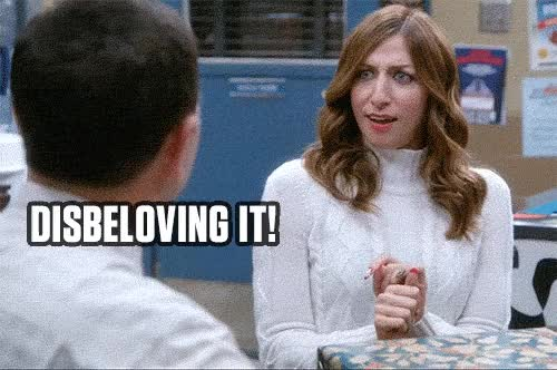 Watch and share Amazed, Brooklyn 99, B99, Gina, Surprise GIFs on Gfycat
