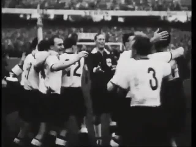Watch this trending GIF on Gfycat. Discover more 1954 FIFA World Cup (Event), Barbosa Fútbol Videos, FIFA World Cup (Football Competition), Ferenc Puskás (Football Player), Fritz Walter (Football Player), Germany National Football Team (Football Team), Hungary National Football Team (Football Team), Sports, Switzerland (Country), soccer GIFs on Gfycat