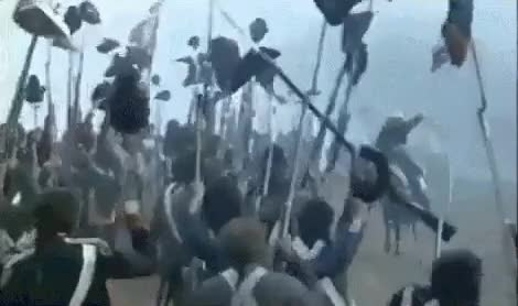Watch and share French Revolutionary Soldiers Celebrating GIFs by nurdbot on Gfycat