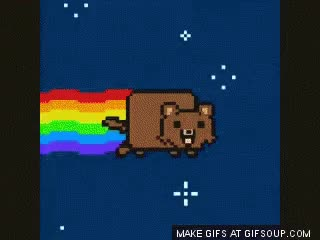 Watch Pedobear Nyan Cat GIF on Gfycat. Discover more related GIFs on Gfycat