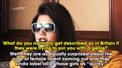 Watch Marina Lambrini Diamandis reacts to comparisons between her  GIF on Gfycat. Discover more Marina and the Diamonds, andPOP, gif, interview GIFs on Gfycat