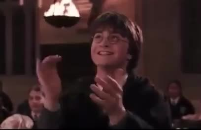 GIF Brewery, clapping, cute, excited, funny, happy, harry, potter, Excited Harry Potter GIFs