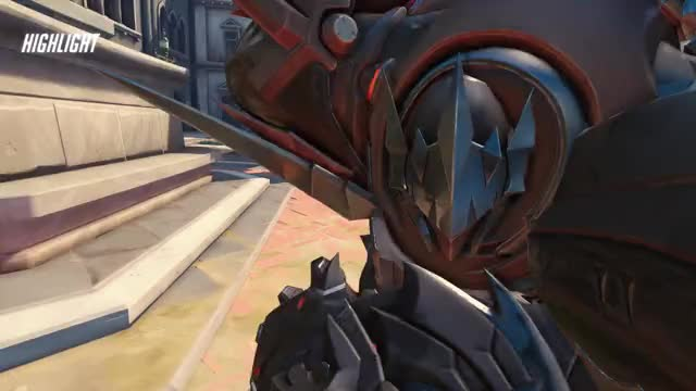 Watch Reinhardt GIF by @kirigamam on Gfycat. Discover more highlight, overwatch GIFs on Gfycat