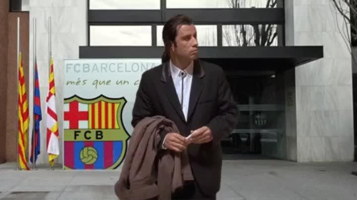 barcelona, john travolta, barca GIFs