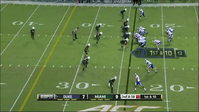 Jamison Crowder (WR, Duke) vs Miami 2014 (reddit)