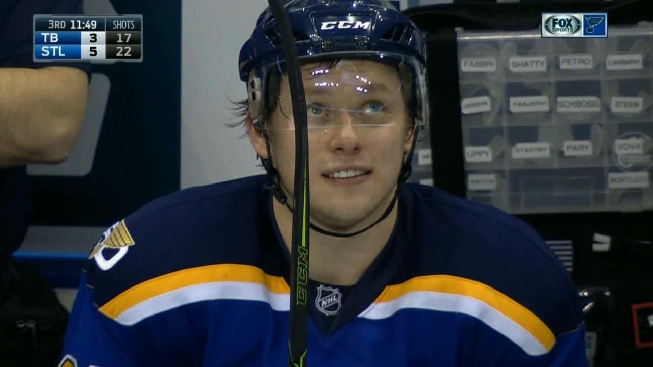 hawwkey, hockey, Tarasenko's reaction to the fans chanting his name after his hat trick last night. (reddit) GIFs