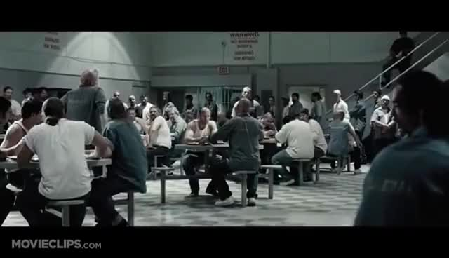 Watch and share Death Race (2/12) Movie CLIP - Prison Cafeteria Fight (2008) HD GIFs on Gfycat
