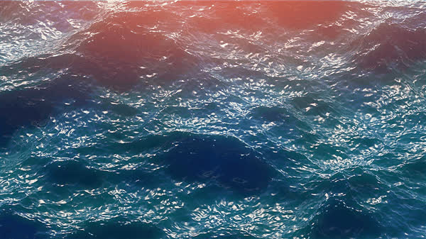 c4d, cgi, hot4d, nature, ocean, Morning Ocean GIFs