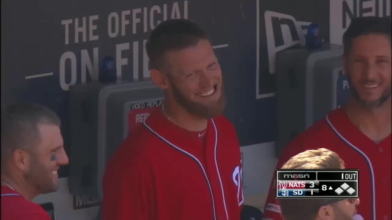 nationals, smiling, washington nationals, stephen strasburg smiling GIFs