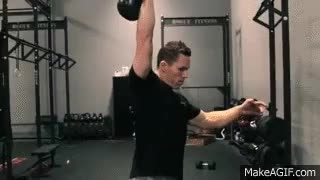 Movement Demo - One Arm Kettlebell Snatch GIFs