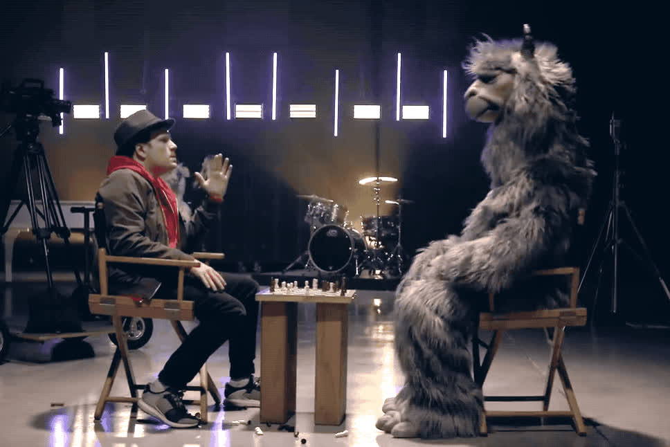 alpaca, angry, bishops, boy, chess, director, fall, fight, furious, hurt, knife, mad, off, out, pissed, please, scared, sorry, trick, yell, Fall out boy - Bishops knife trick GIFs