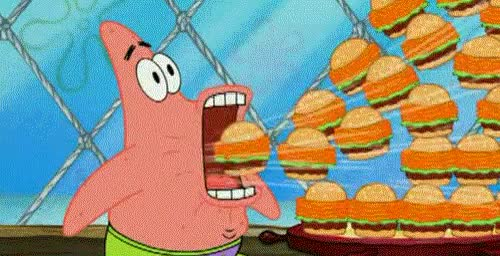 Watch and share Patrick Star GIFs and Hamburgers GIFs on Gfycat