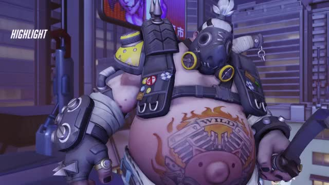 Watch insane GIF by ok (@lolibunbun) on Gfycat. Discover more highlight, overwatch, roadhog GIFs on Gfycat