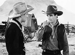 Watch and share I'm Walter Brennan GIFs and Montgomery Clift GIFs on Gfycat