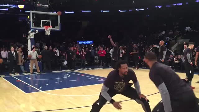 nevertellmetheodds, DeAndre Jordan gets the steal during warmups and throws the ball into the jumbotron GIFs