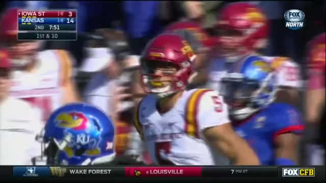 Watch and share Iowa State Cyclones - Park Back Shoulder Throw GIFs by LandGrant Gauntlet on Gfycat