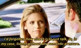 Watch btvs rewatch  2x20 Go Fish  GIF on Gfycat. Discover more BTVSrewatch2015, Buffy Summers, Buffy the Vampire Slayer, Go Fish, Joss Whedon, MTVSepicrewatch, Sarah Michelle Gellar, dudes take a hint, feminism, mine, this is not appropriate behavior GIFs on Gfycat