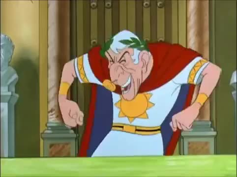 asterix, evil, evil laugh, laugh, Asterix   Julius Cesar  - Evil Laugh GIFs