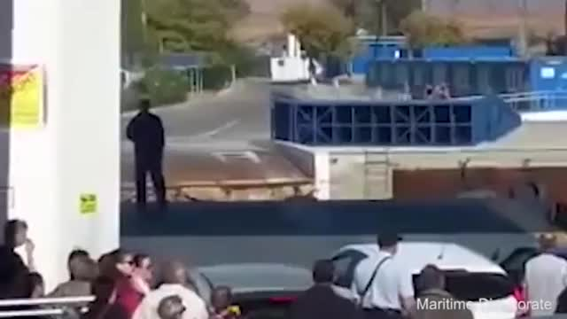 Watch Car drives off a ship at the Port of Crimea GIF on Gfycat. Discover more related GIFs on Gfycat