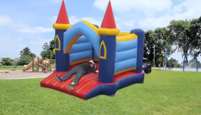Watch and share Rich Evans Bouncy Castle GIFs on Gfycat