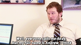Chris Pratt, also his face in the 2nd gif, andy dwyer, lie detector, look how happy he is in the last gif, pannedpandawork, parks and rec, parks and rec s05e13, parks and recreation, parksedit, Panned Panda GIFs