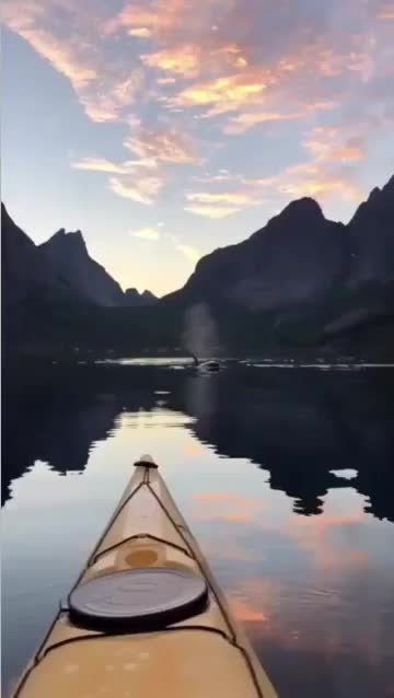 Watch Kayaking in Lofoten, Norway GIF by stchy (@stchy_5) on Gfycat. Discover more cool, gifs, interestingasfuck, nature GIFs on Gfycat