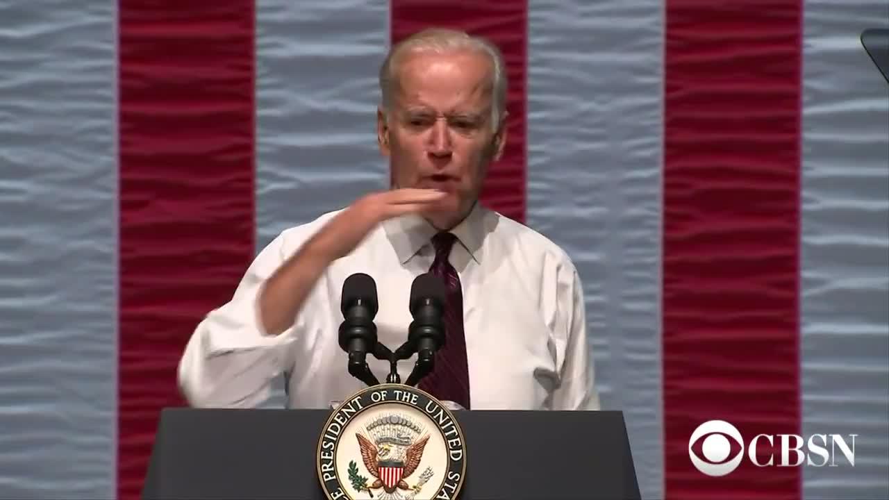 Biden, Clinton, FBI, GOP, Hillary, Investigation, Sanders, campaign, cbsn, cruz, democrats, emails, fiorina, obama, rally, republicans, speech, trump, video, Joe Biden joins the campaign trail GIFs