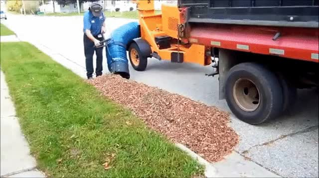 Watch and share Vacuuming Leaves GIFs on Gfycat