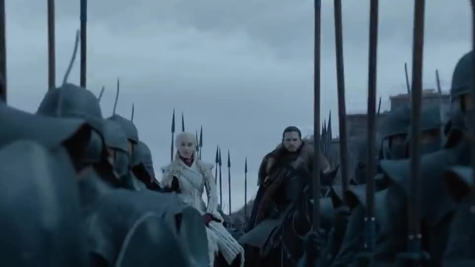 8, clarke, eight, emilia, final, game, got, harington, hbo, horse, jon, kit, of, official, premiere, promo, season, thrones, together, trailer, Game of Thrones _ Season 8 _ Together (HBO) GIFs