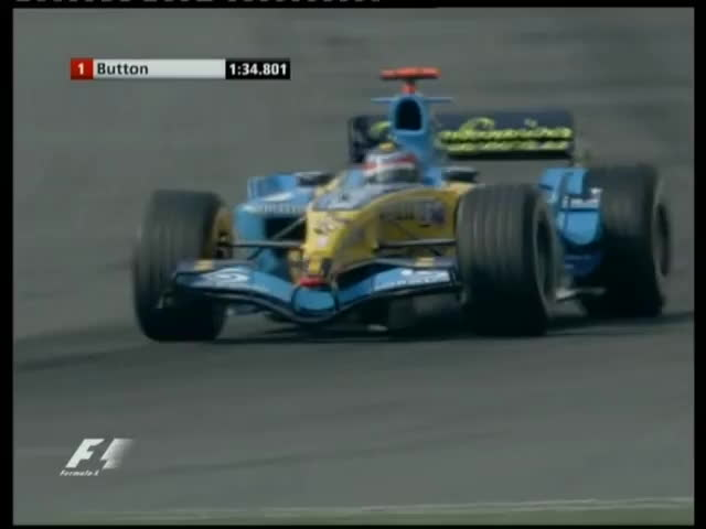 f1, formula, one, F1 China 2005 Qualifying - Fernando Alonso Pole Lap GIFs