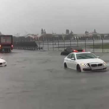 Audi Quattro VS BMW in the rain GIFs