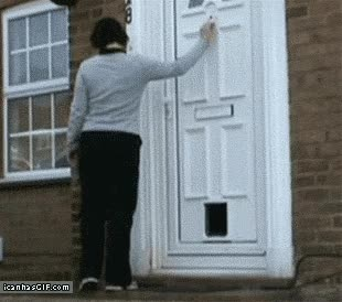 Watch funny-gif-door-answering-door GIF on Gfycat. Discover more related GIFs on Gfycat
