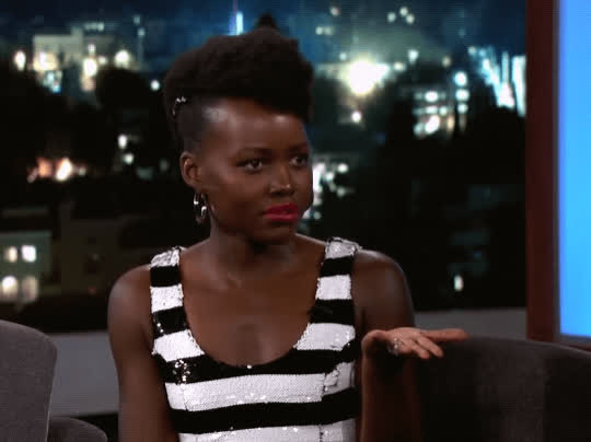 confused, huh, jimmy kimmel live, lupita nyongo, puzzled, what, wtf, Lupita Nyong'o Confused GIFs