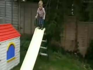 Watch Kid falls through the slide.. GIF on Gfycat. Discover more childrenfallingover GIFs on Gfycat