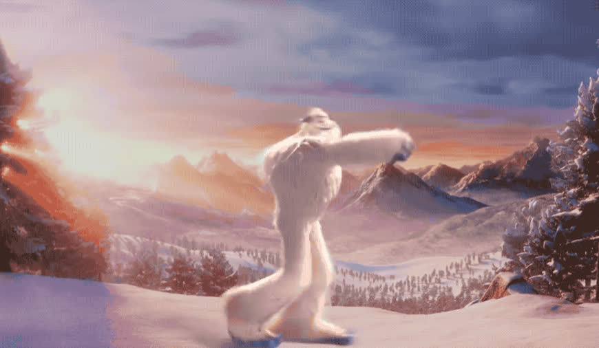 awesome, celebrate, dance, dancing, excited, exciting, funny, good, great, happy, monster, moves, movie, new, party, smallfoot, victory, woohoo, yay, yeah, Smallfoot's dance GIFs